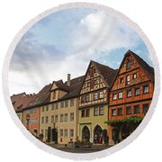 Rothenburg Medieval Old Town  Round Beach Towel