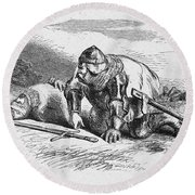 Shakespeare: Henry Iv Round Beach Towel