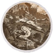 Siege Of Vicksburg, 1863 Round Beach Towel by Photo Researchers