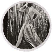 Silent Film Still: Costume Round Beach Towel