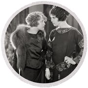 Silent Film Still: Women Round Beach Towel