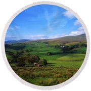 Sperrin Mountains, Co Tyrone, Ireland Round Beach Towel