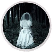 The Bride Round Beach Towel