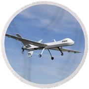 The Ikhana Unmanned Aircraft Round Beach Towel