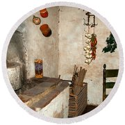 The Museum At The Monastery Round Beach Towel