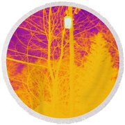 Thermogram Of Electrical Wires Round Beach Towel by Ted Kinsman