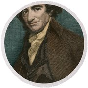 Thomas Paine, American Patriot Round Beach Towel by Photo Researchers