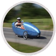 Velomobile Round Beach Towel