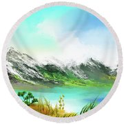 30 Minute Landscape Round Beach Towel