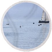 Lake Maggiore Round Beach Towel