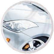 350z Car Front Close-up  Round Beach Towel