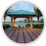 36- Palm Beach Inlet Round Beach Towel