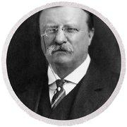 Theodore Roosevelt Round Beach Towel