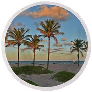 39- Evening In Paradise Round Beach Towel
