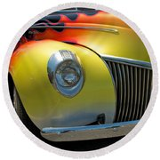 39 Ford Deluxe Hot Rod 3 Round Beach Towel