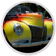 39 Ford Deluxe Hot Rod Round Beach Towel