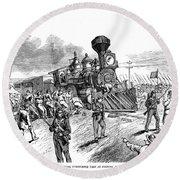 Great Railroad Strike, 1877 Round Beach Towel