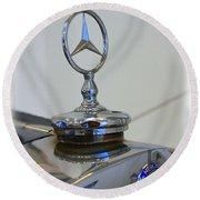 39 Mercedes-benz Emblem Round Beach Towel