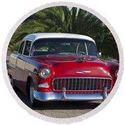 1955 Chevrolet 210 Round Beach Towel