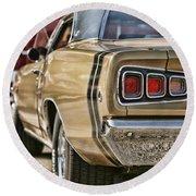 1968 Dodge Coronet Rt Round Beach Towel
