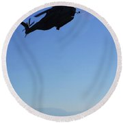 A Ch-53e Super Stallion Helicopter Round Beach Towel
