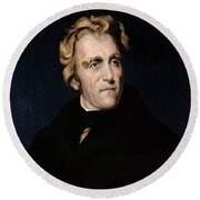 Andrew Jackson, 7th American President Round Beach Towel by Photo Researchers