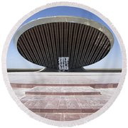 Baghdad, Iraq - A Great Dome Sits At 12 Round Beach Towel by Terry Moore