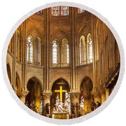 Cathedral Notre Dame  Round Beach Towel