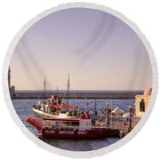 Chania - Crete Round Beach Towel