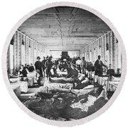 Civil War: Hospital Round Beach Towel