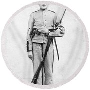 Civil War Soldier Round Beach Towel