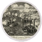 Civil War: Vicksburg, 1863 Round Beach Towel