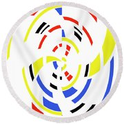4 Colors Abstract Round Beach Towel