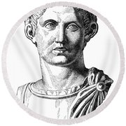 Constantine I (d. 337) Round Beach Towel