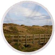 Cornish Seascape Holywell Bay Round Beach Towel