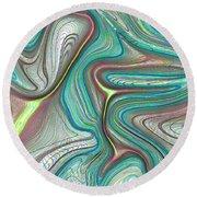 Digital Art Abstract Round Beach Towel