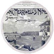 Dime Novel, 1897 Round Beach Towel