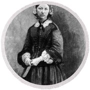 Florence Nightingale, English Nurse Round Beach Towel