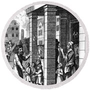 Foxe: Book Of Martyrs Round Beach Towel
