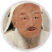 Genghis Khan (1162-1227) Round Beach Towel