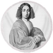 George Sand (1804-1876) Round Beach Towel