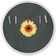 Gerbera Round Beach Towel by Joana Kruse