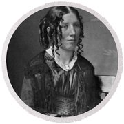 Harriet Beecher Stowe, American Round Beach Towel