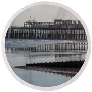 Hastings Pier Round Beach Towel