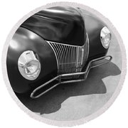 Hot Rod Front Round Beach Towel