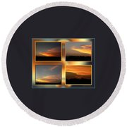 4 In 1 Sunsets Round Beach Towel