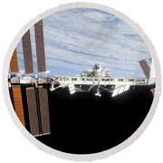 International Space Station Round Beach Towel