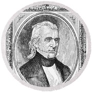 James K. Polk (1795-1849) Round Beach Towel