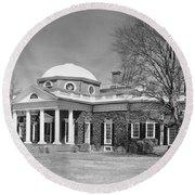 Jefferson: Monticello Round Beach Towel