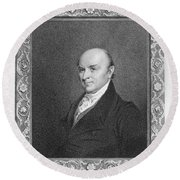 John Quincy Adams Round Beach Towel